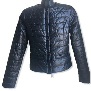 Original Marines Black Quilted Padded Jacket M